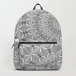 Silver Grey Spiderweb Dreamcatcher Mandala Backpack