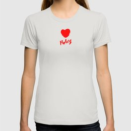 The word Paris with the heart. The hand drawn letters. Lettering and typographic design. T-shirt