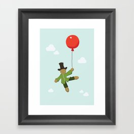 Scarecrow in balloon  Framed Art Print