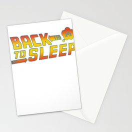 Back to the sleep Stationery Cards