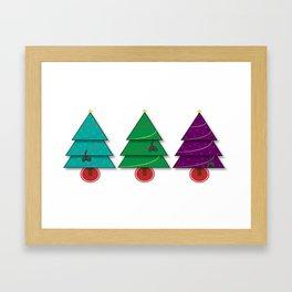 Christmas Cats Framed Art Print