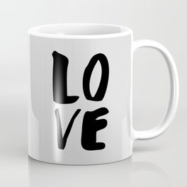 Monochrome LOVE black-white hand lettered ink typography poster design home decor wall art Coffee Mug
