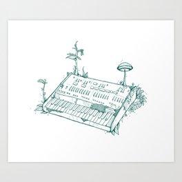 Organic Synth // ARP Odyssey - Green Art Print