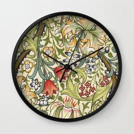 Modern poster-William Morris-Vegetable print 4. Wall Clock