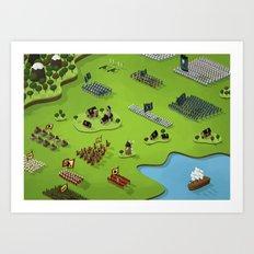 La plus grande toute petite bataille du monde Art Print