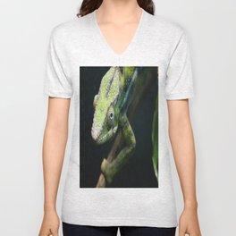 Green Chameleon Unisex V-Neck