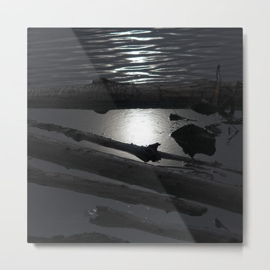 Scout Lake Under Snow and Sun Metal Print