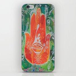 Hamsa Hand in Oranges iPhone Skin