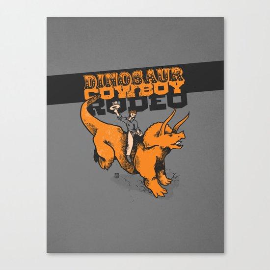Dinosaur Cowboy Rodeo! Canvas Print