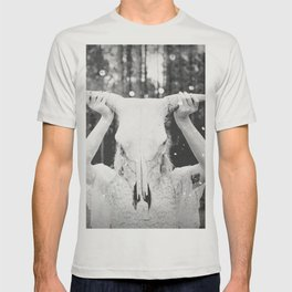 Bull Skull Tribal Woman Vintage T-shirt