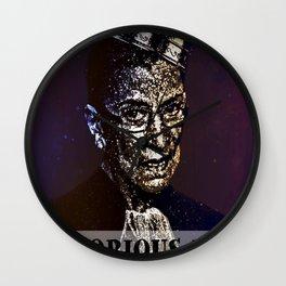 Notorious R.B.G. Funny Progressive, Liberal Ruth Bader Ginsburg Wall Clock
