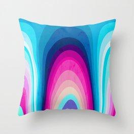 Woodwork Rainbow Tree Throw Pillow