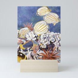 Tropical Fish Gathering Mini Art Print