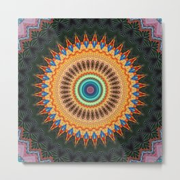 Recreational Maylanta Mandala 14 Metal Print
