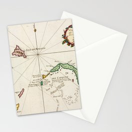 Vintage Turks and Caicos Map (1764) Stationery Cards