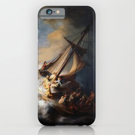 The Storm on the Sea of Galilee, Rembrandt iPhone Case