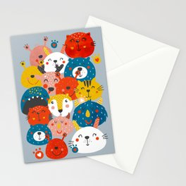 Monsters friends Stationery Cards