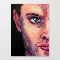 dean winchester Canvas Prints featuring Dean Winchester by Wayward Quasar
