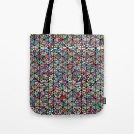 Cuben Offset Geometric Art Print. Tote Bag