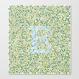 """E"" Eye Test Full Canvas Print"