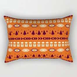 Holiday pattern with Christmas trees Rectangular Pillow