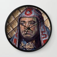 doom Wall Clocks featuring Thulsa Doom by Jonathan  Bergeron