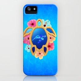 Hawaiian Swimming Turtle iPhone Case