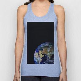 Earth Globe Space Unisex Tank Top