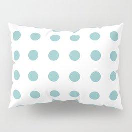 Chalky Blue Polka Dots Pillow Sham