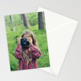photographing in blueberries and pines Stationery Cards