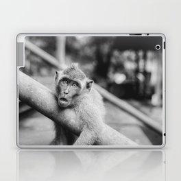 Cute Monkey (Black and White) Laptop & iPad Skin