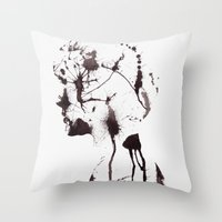 chaos Throw Pillows featuring Chaos by Andreas Lie