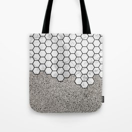 Honeycomb On Concrete Tote Bag