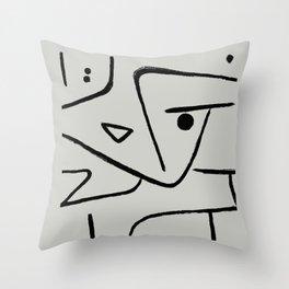 Modern poster Paul Klee - Zweierlei Augenmass, 1938. Throw Pillow