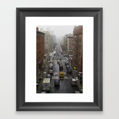 East Harlem NYC Snowy Saturday Framed Art Print