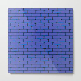 Wide Blue Wall Background Metal Print