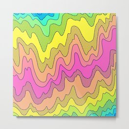 Ooo Ahh Melty Neon Rainbow Metal Print
