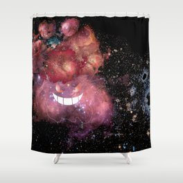Space Gengar Shower Curtain