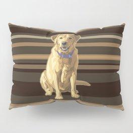 Happy Yellow Labrador Retriever Retro Pillow Sham