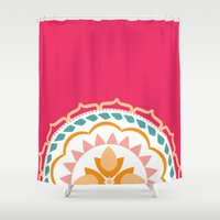 sunshine Shower Curtains featuring Sunshine by Farah Saheb