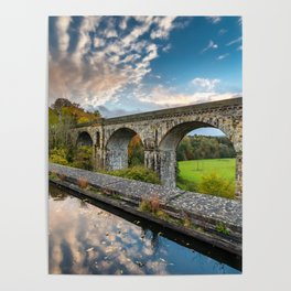 Chirk Aqueduct And Viaduct Poster