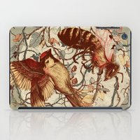 grey iPad Cases featuring Honey & Sorrow (grey) by Teagan White