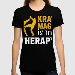 Krav Maga therapy fighter kickboxing T-shirt