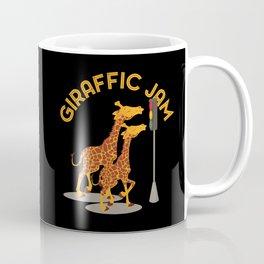 Giraffic Jam Traffic Pun Coffee Mug