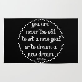 Dream a new dream; set a new goal Rug