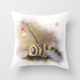Enlighted Bee Throw Pillow