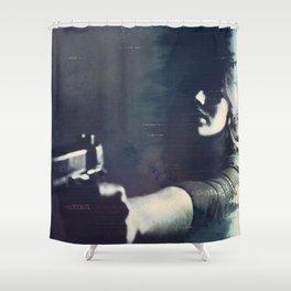 Hardboiled Fiction Shower Curtain