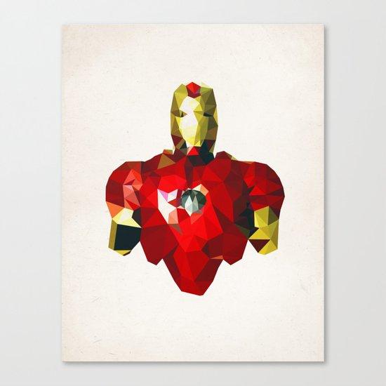 Polygon Heroes - Iron Man Canvas Print
