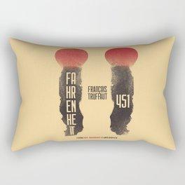 Fahrenheit 451, François Truffaut, french movie, british film, Ray Bradbury,  dystopian novel, book Rectangular Pillow