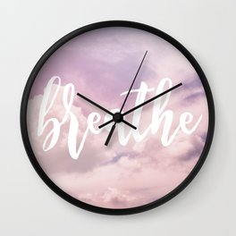 MANTRA SERIES: Breathe Wall Clock
